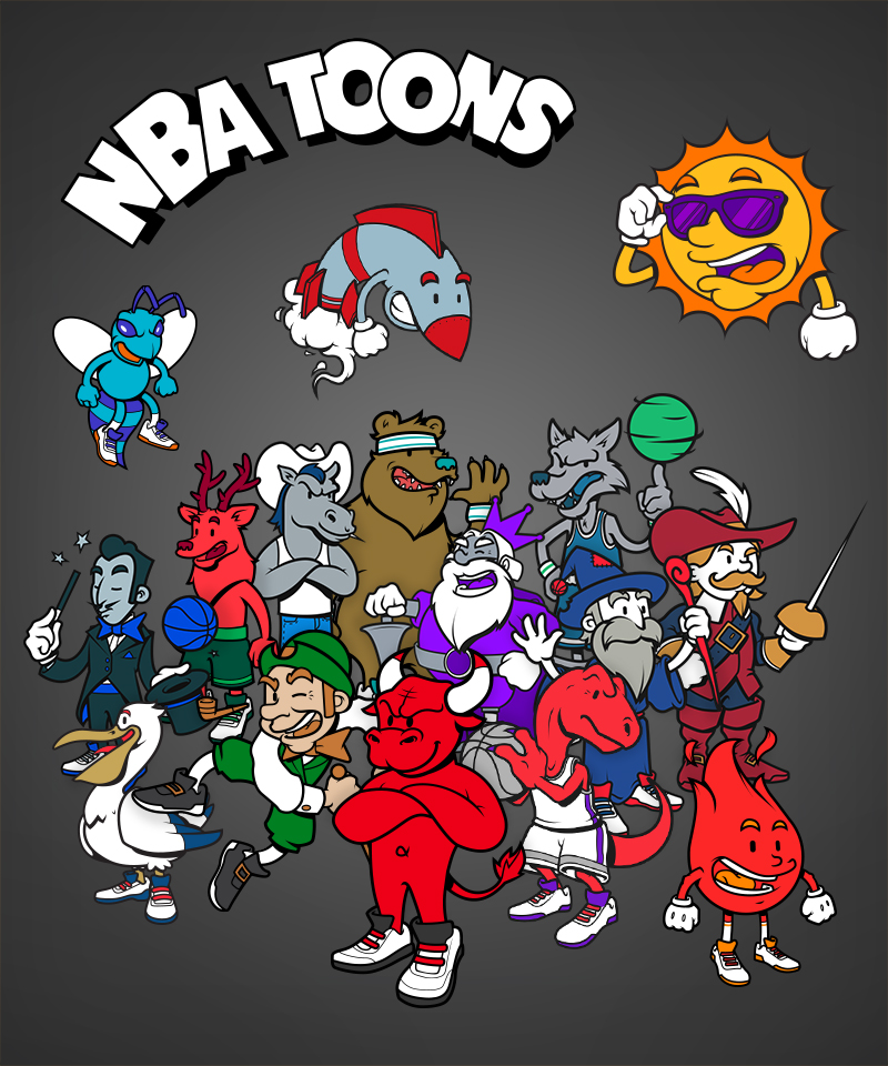 Nba toons illustrations - Nba all teams wallpaper ...