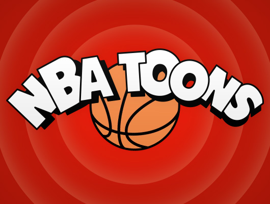 NBA logos design as cartoon characters
