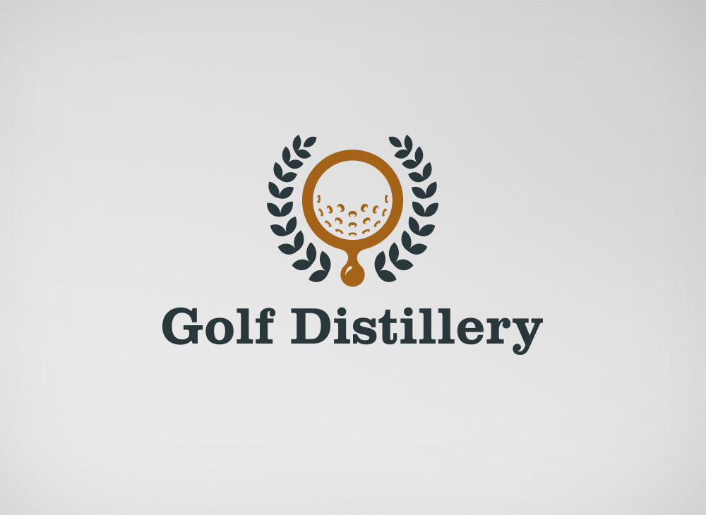 Golf Distillery official logo design