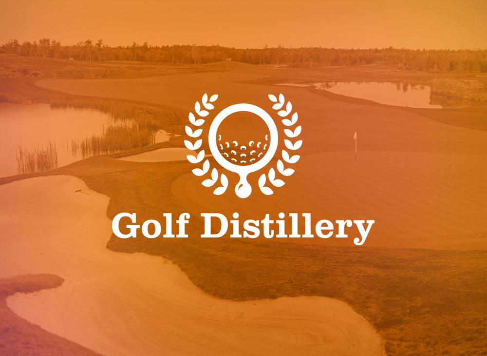 Golf Distillery reverse logo vatriation