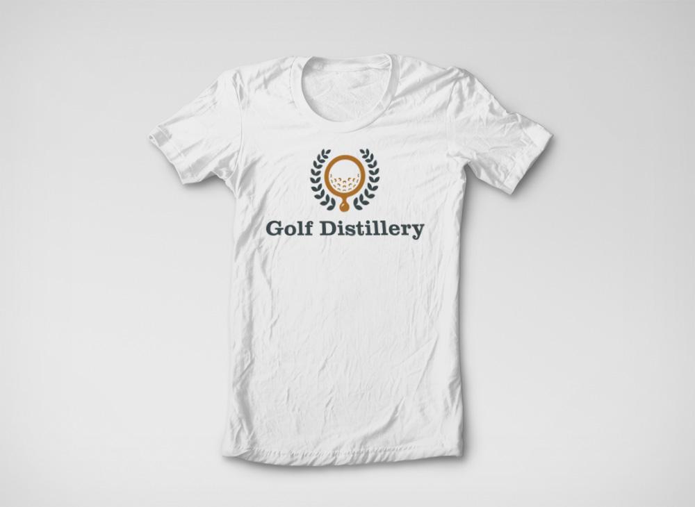 Golf Distillery logo T-shirt application