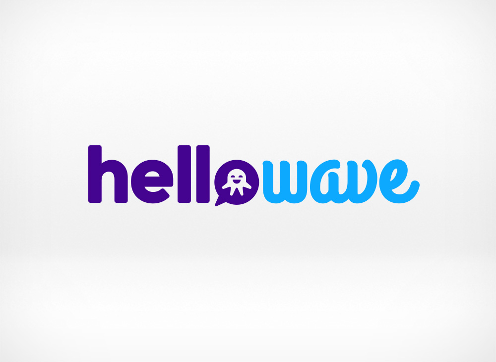 Hellowave logo design