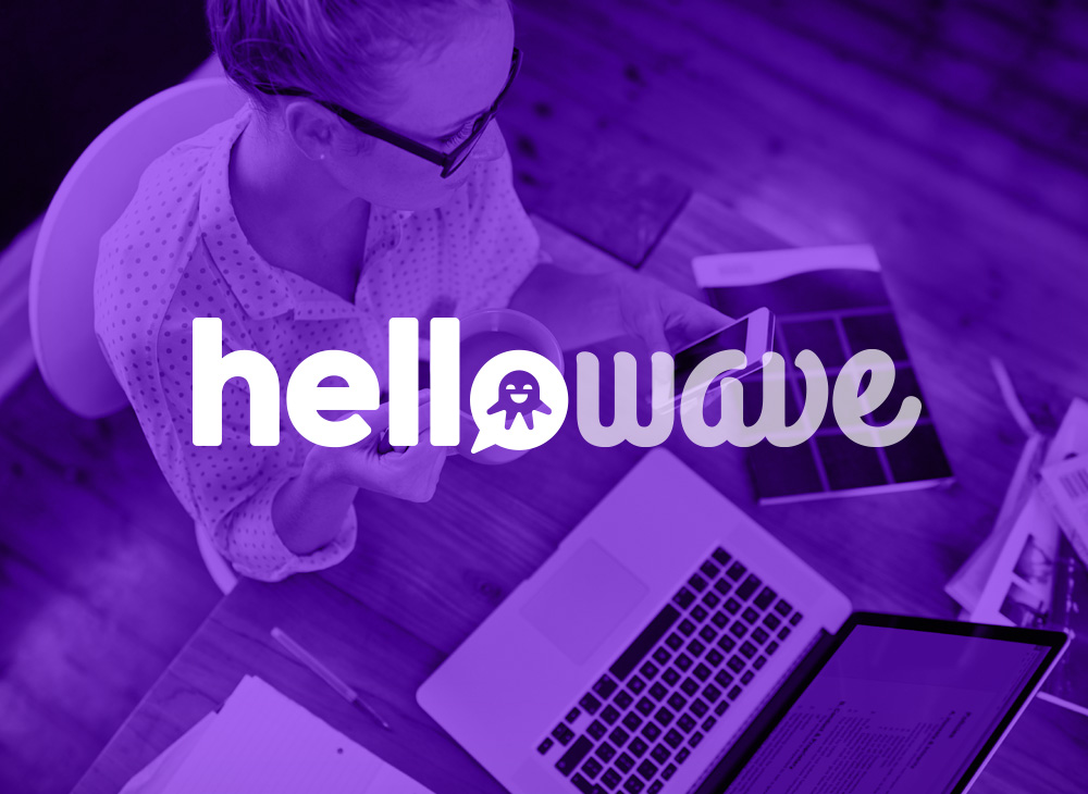 Reverse logo design Hellowave
