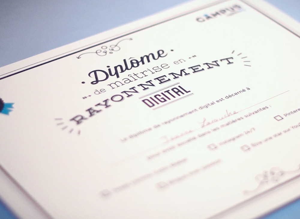 Certificate Design Campus 2015