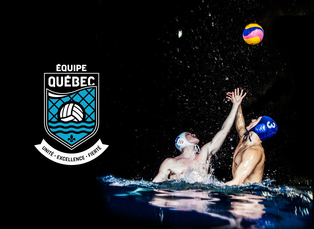 Players from Québec's water polo team