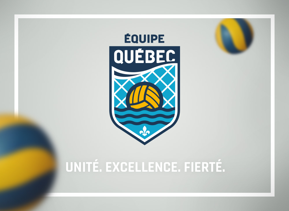 Logo design for Québec's water polo team