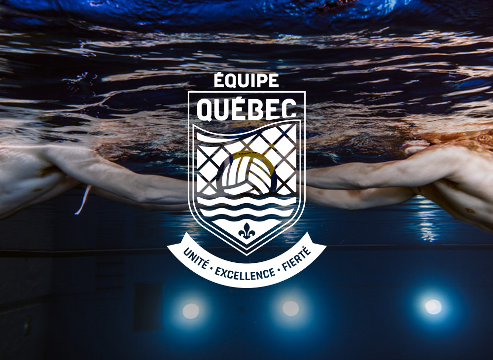 Reverse logo version Québec's water polo  team
