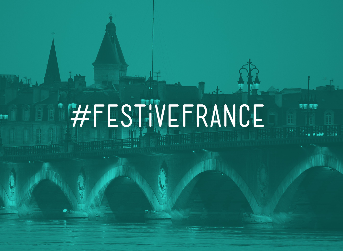 Festive France Hashtag Type design