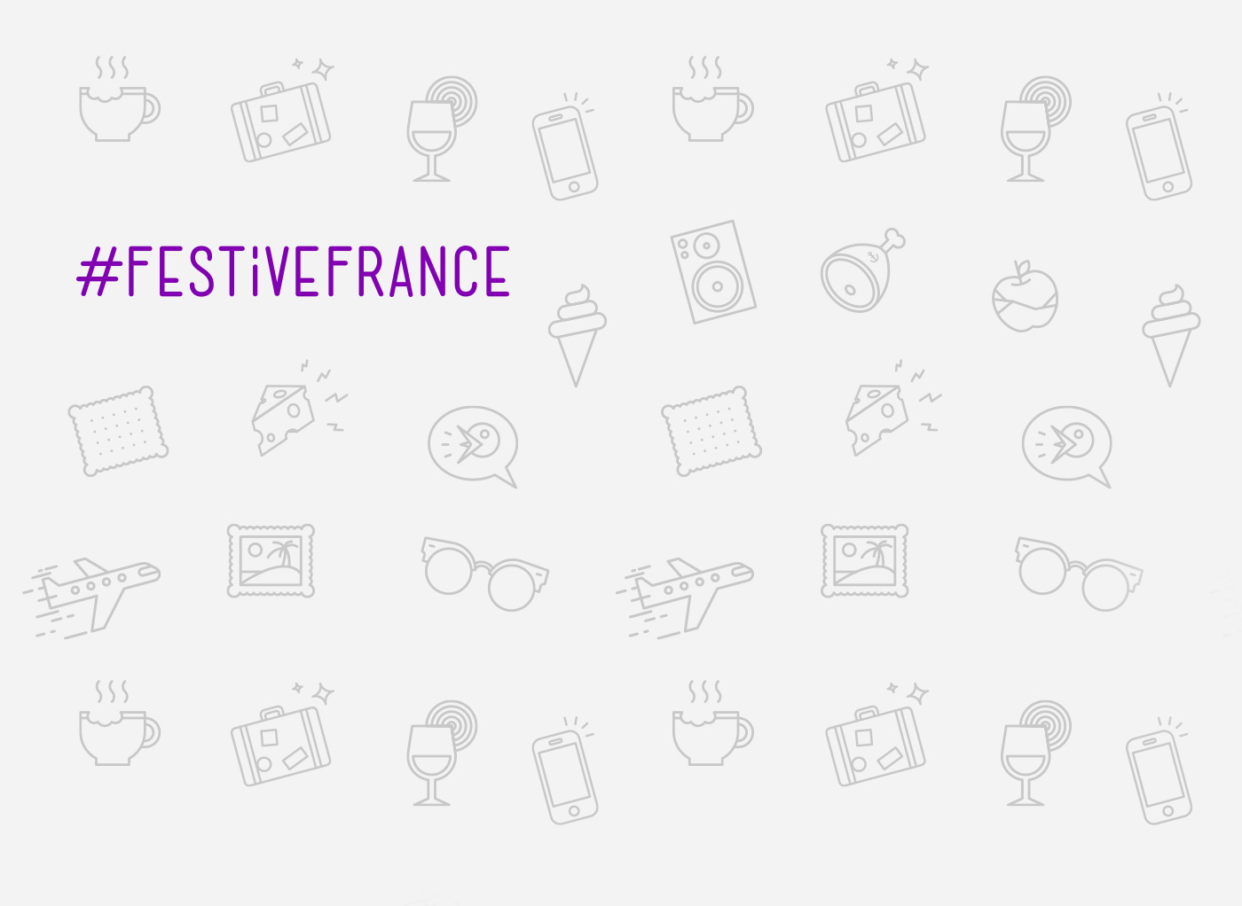 Background design for Festive France