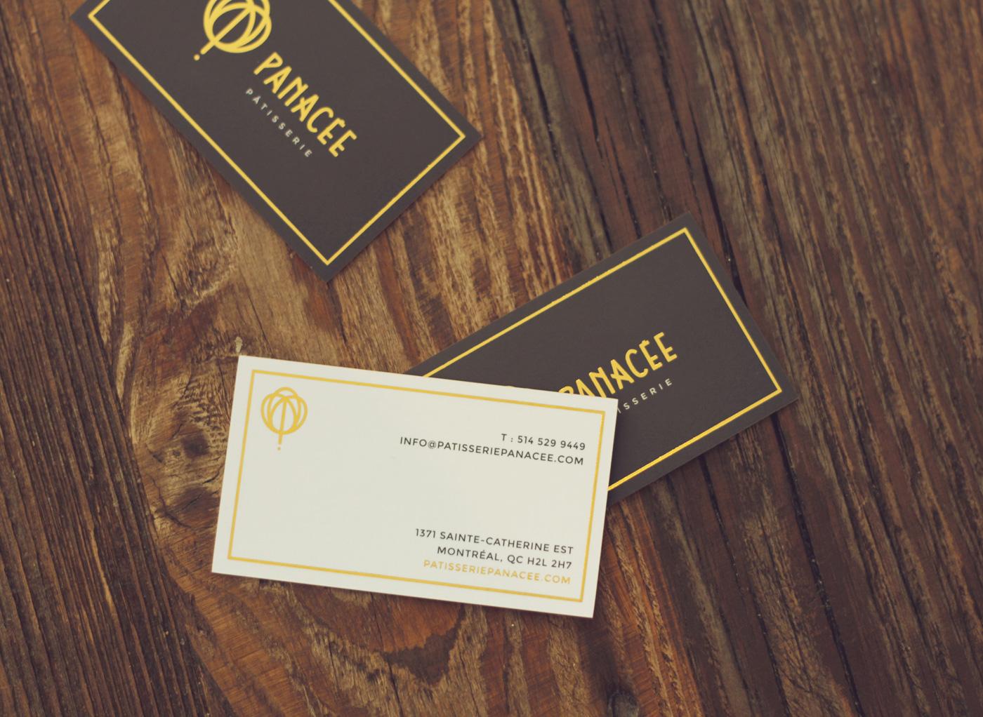 Business Cards design for Panacée