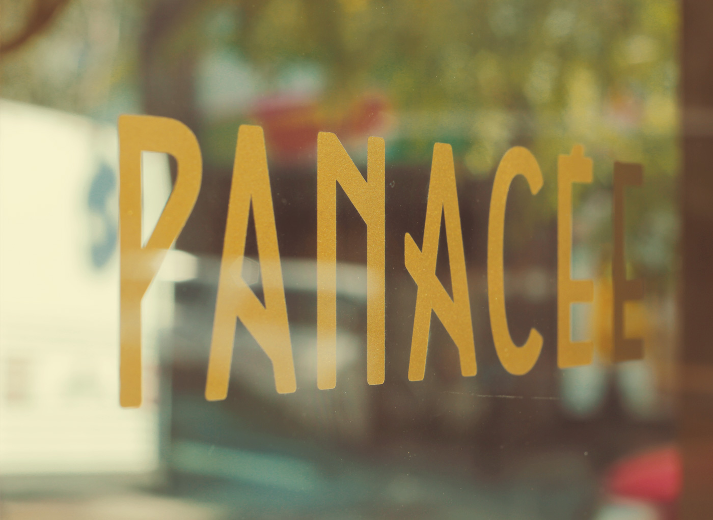 Picture of the custom typography for Panacée