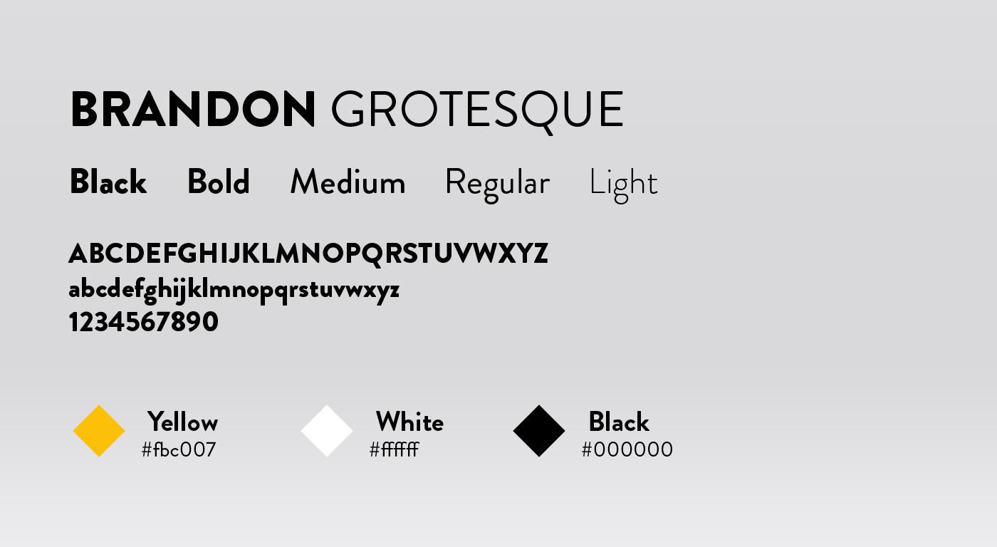 Palette des couleurs et typographie