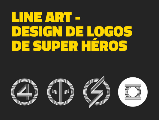 Line Art – Design de logos de super héros