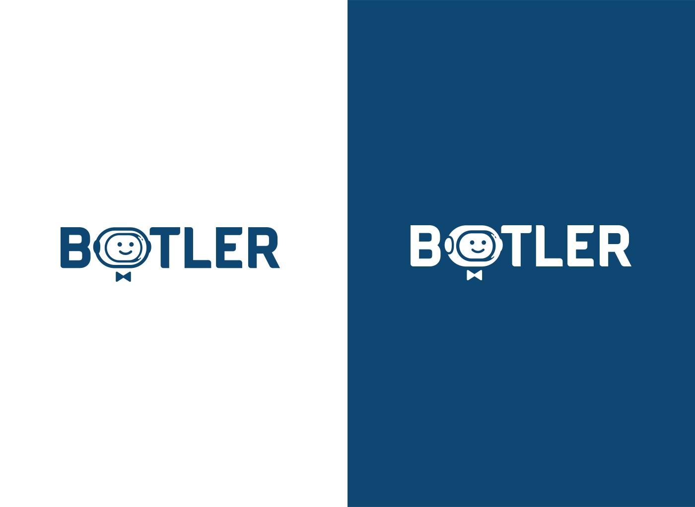 Botler horizontal logo design