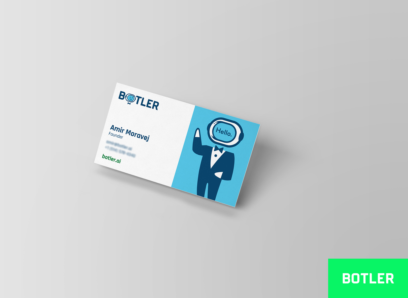 Botler Business Card Design