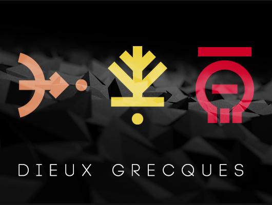 Logos minimalistes des dieux de la mythologie grecque
