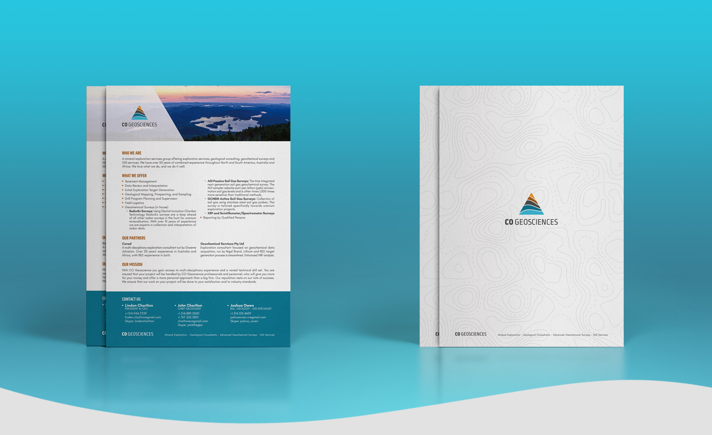 Flyer design mockup CO Geosciences