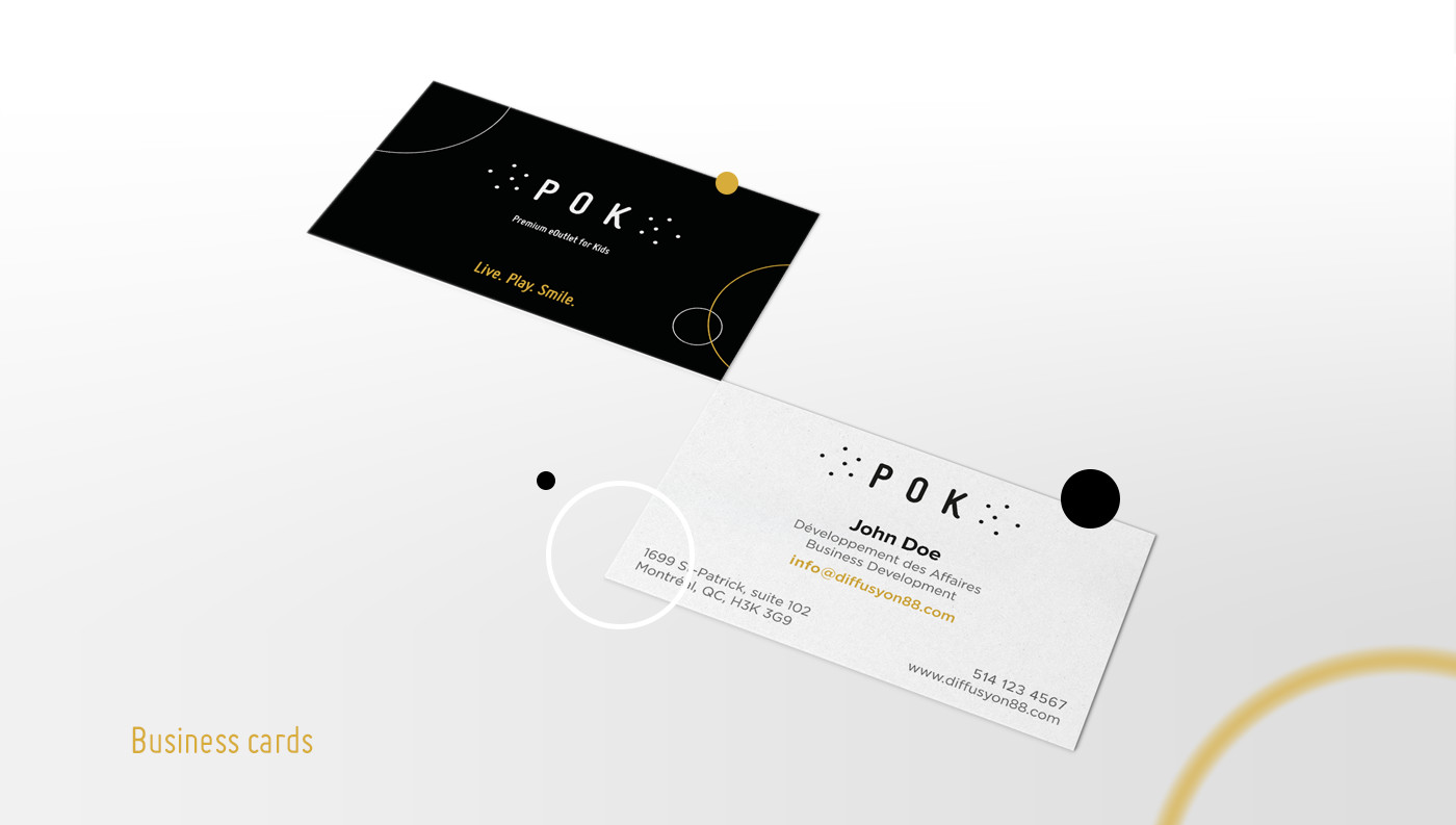 business cards creation pok