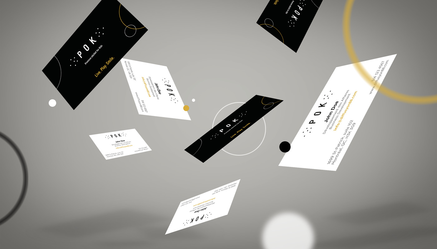 business cards design pok