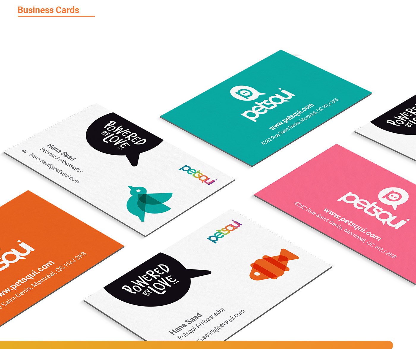 business cards design for petsqui