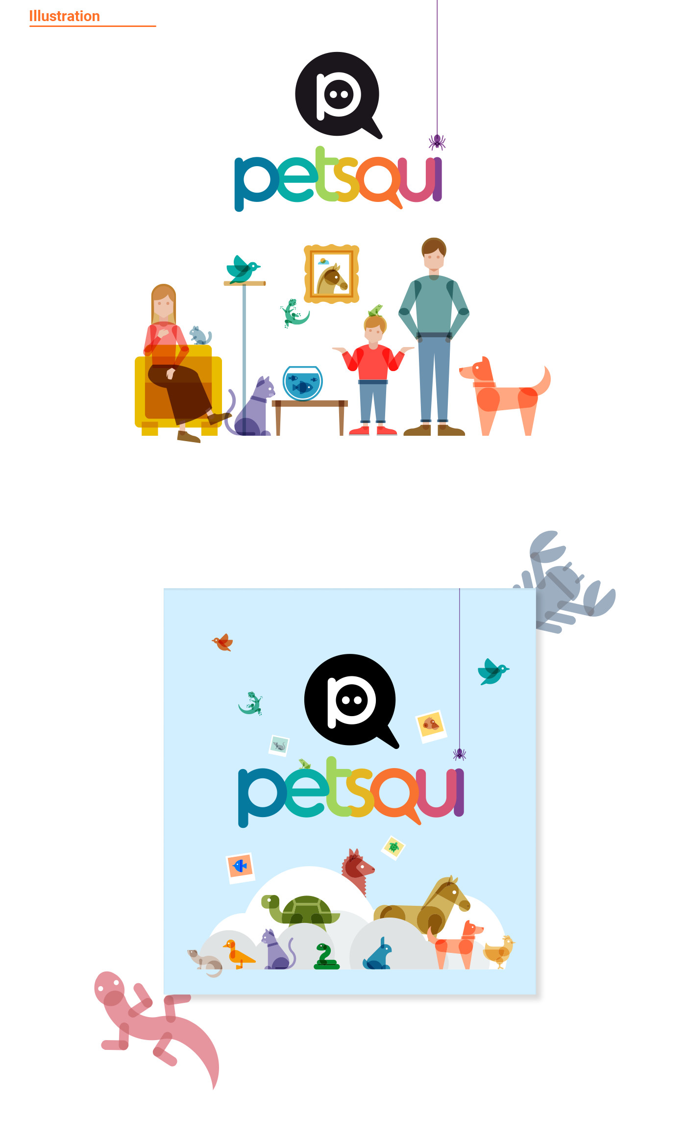 illustrations for petsqui