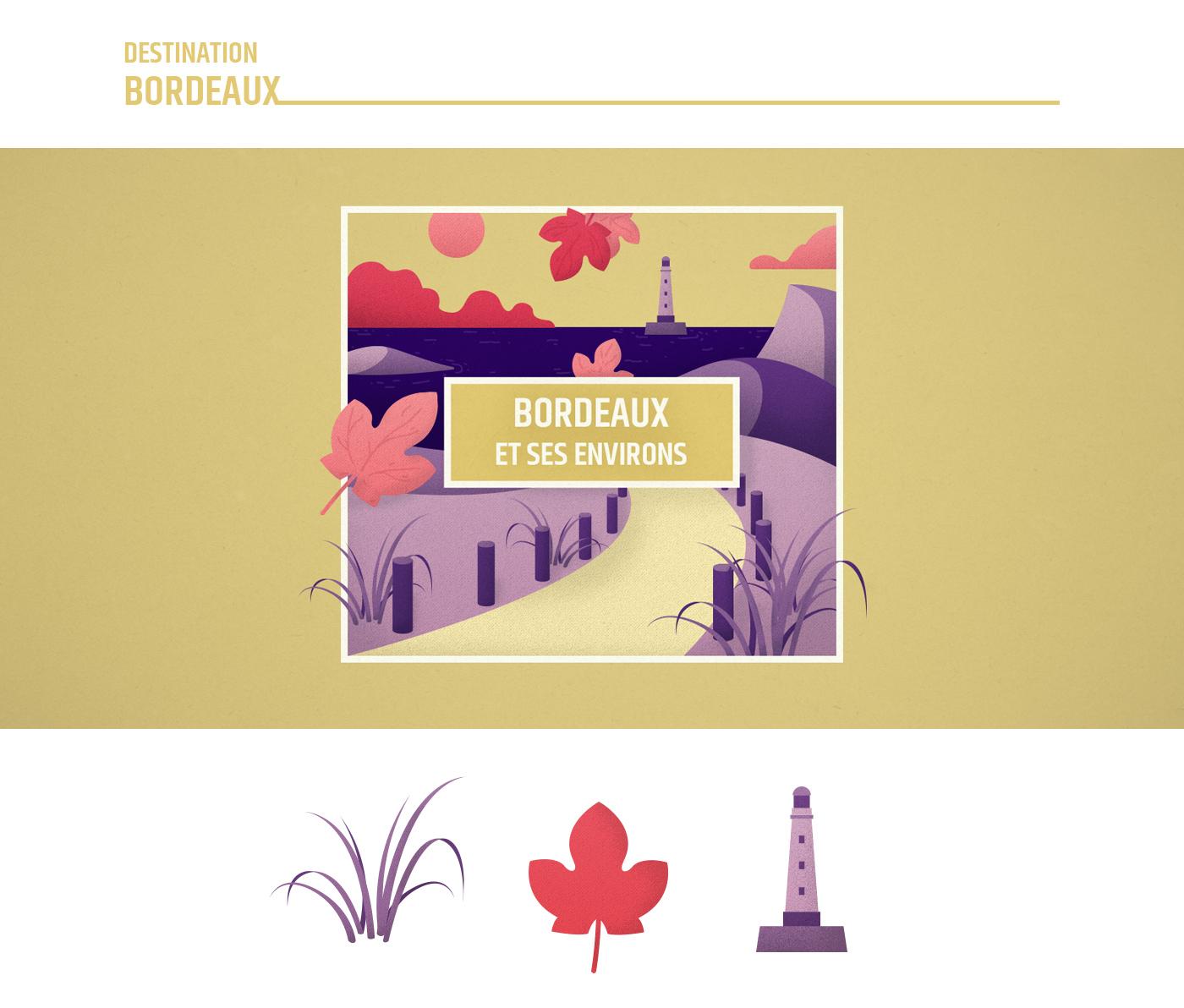 Illustration Bordeaux - France Nature